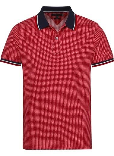 Tommy Hilfiger Erkek Mıcro Prınt Slım Polo Tişört MW0MW10794 Kırmızı